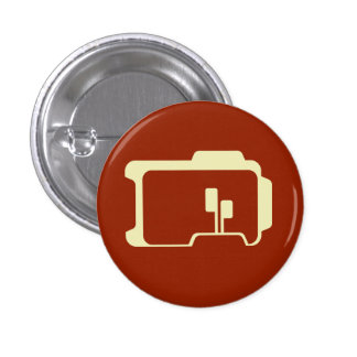Logo (Dark Red) 1 Inch Round Button