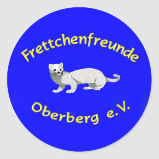 """Logo de asociación FFO e.V./""""hurón """" azul"""