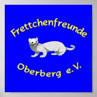"""Logo de asociación FFO e.V./""""hurón """" azul Póster"""