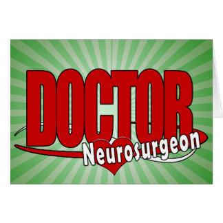 LOGO DOCTOR BIG RED Neurosurgeon Cards
