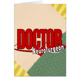 LOGO DOCTOR BIG RED Neurosurgeon Greeting Card