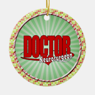 LOGO DOCTOR BIG RED  Neurosurgeon Ceramic Ornament