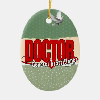 LOGO DOCTOR GENERAL PRACTITIONER CERAMIC ORNAMENT