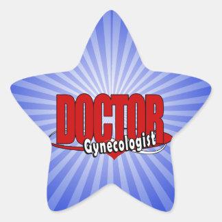 LOGO DOCTOR GYNECOLOGIST STAR STICKER