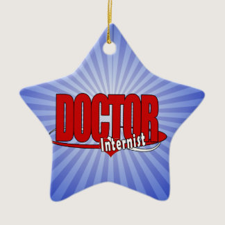LOGO DOCTOR Internist Ceramic Ornament