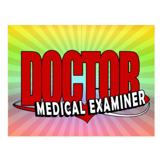 LOGO DOCTOR MEDICAL EXAMINER POSTCARD