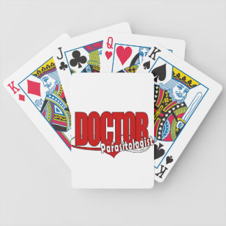LOGO DOCTOR PARASITOLOGIST BICYCLE POKER CARDS