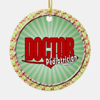 LOGO DOCTOR PEDIATRICIAN CHRISTMAS TREE ORNAMENT