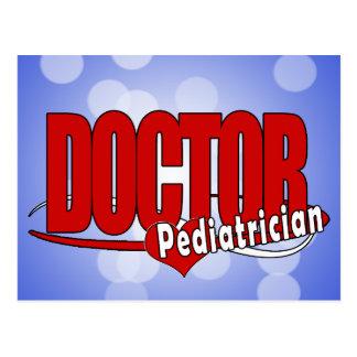 LOGO DOCTOR PEDIATRICIAN POSTCARD