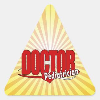 LOGO DOCTOR PEDIATRICIAN TRIANGLE STICKER