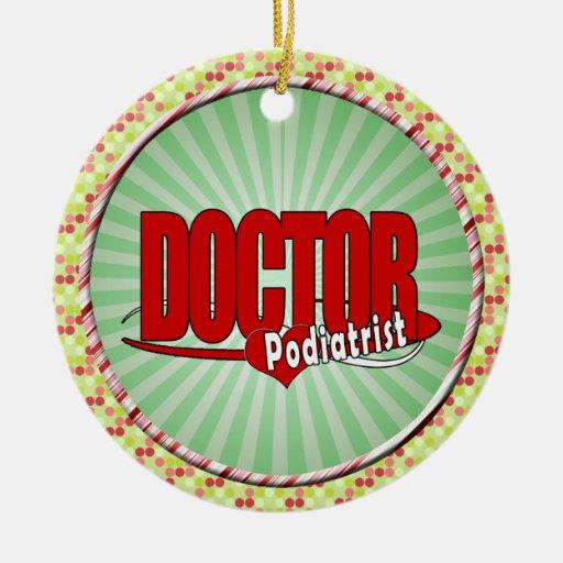 LOGO DOCTOR PODIATRIST Double-Sided CERAMIC ROUND CHRISTMAS ORNAMENT