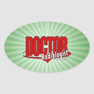 LOGO DOCTOR RADIOLOGIST OVAL STICKERS