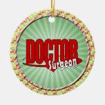 LOGO DOCTOR SURGEON CHRISTMAS TREE ORNAMENTS