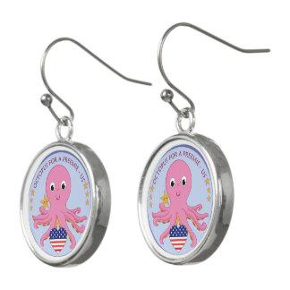 Logo Drop Earrings Octopus For A Preemie US