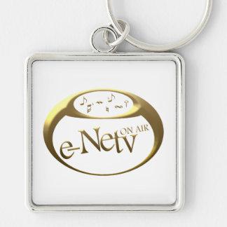 Logo e-Netv ON AIR square key ring