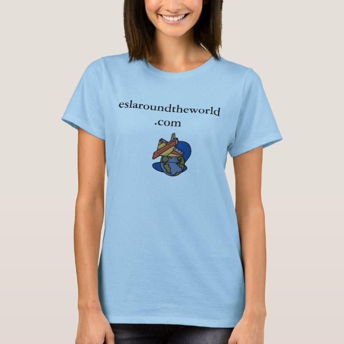 logo, eslaroundtheworld.com T-Shirt