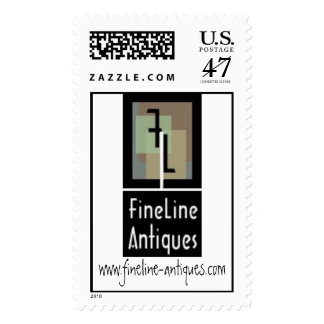 logo fixed for stamps, www.fineline-antiques.com postage