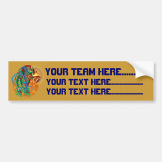 Logo Football  think it's to early view notes Bumper Sticker