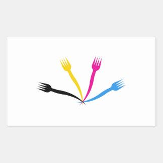 Logo for a restaurant or cafe rectangular sticker