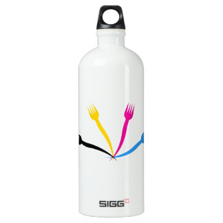 Logo for a restaurant or cafe water bottle