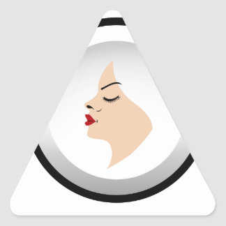Logo for beauty salons triangle sticker
