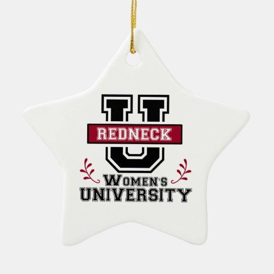 Logo for Redneck Women Ceramic Ornament