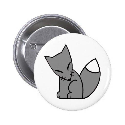 Logo Fox (grey) 2 Inch Round Button