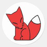 Logo Fox (red) Stickers
