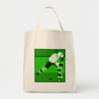 Logo - green Ice Hockey bag