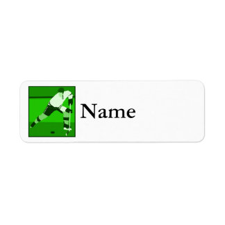 Logo - green Ice Hockey Return Address Label
