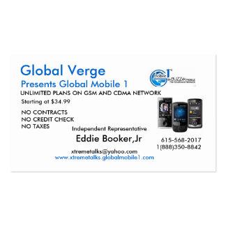 logo, GVPhones, Eddie Booker,Jr, www.xtremetalk... Business Card