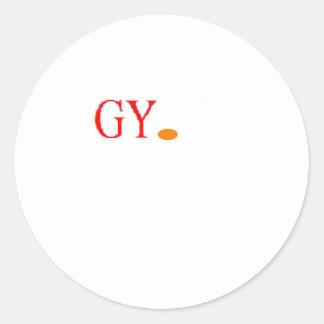 LOGO GY. CLASSIC ROUND STICKER
