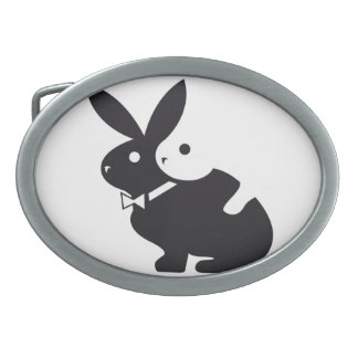 logo, hot, rabbits, lapin, humour, amour, oval belt buckle