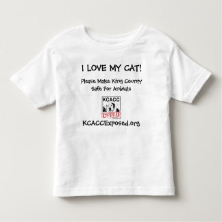 logo, I LOVE MY CAT!, KCACCExposed.org, Please ... Toddler T-shirt