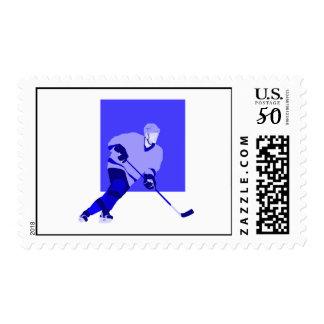 Logo Ice Hockey Blue Postage
