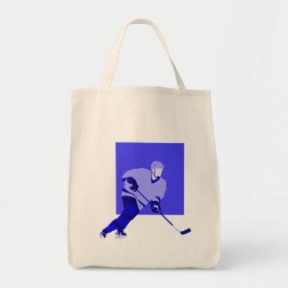 Logo Ice Hockey Blue Tote Bag