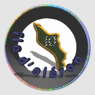 logo island of oléron classic round sticker