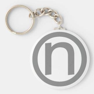 logo key basic round button keychain