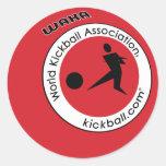 Logo Kickball Round Stickers