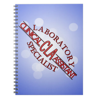 LOGO LAB CLA CLINICAL LABORATORY ASSISTANT NOTEBOOK