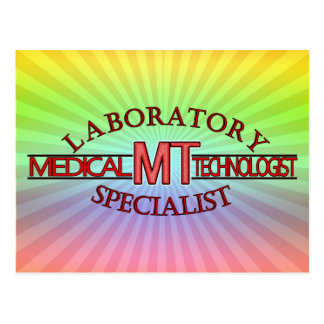 LOGO LABORATORY SPECIALIST MT MEDICAL TECHNOLOGIST POSTCARD
