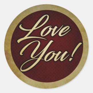 Logo - Love You! Classic Round Sticker