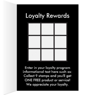 logo loyalty rewards card
