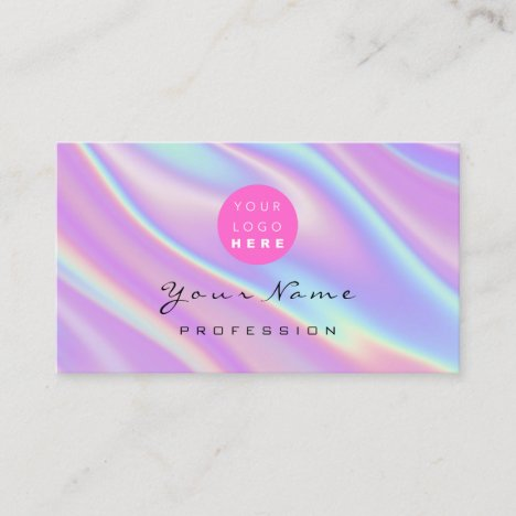 Logo Makeup Artist Hair Nails Abstract Business Card
