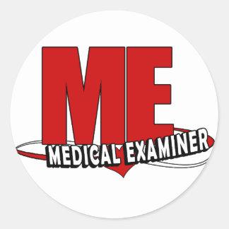 LOGO ME ACRONYM MEDICAL EXAMINER CLASSIC ROUND STICKER