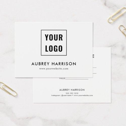 Logo Modern Professional Gift Certificate