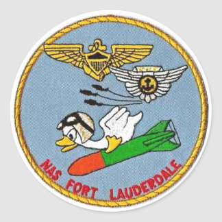 Logo of NAS Fort Lauderdale Classic Round Sticker