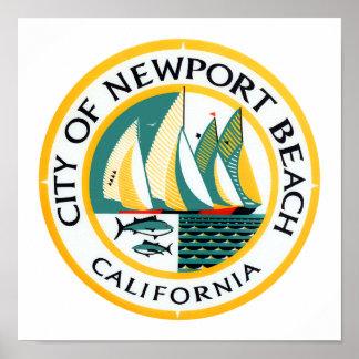 Logo of Newport Beach, California Poster