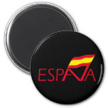 Logo of Spain 2 Inch Round Magnet