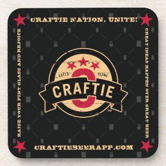 Logo on Black Coasters (set of 6)